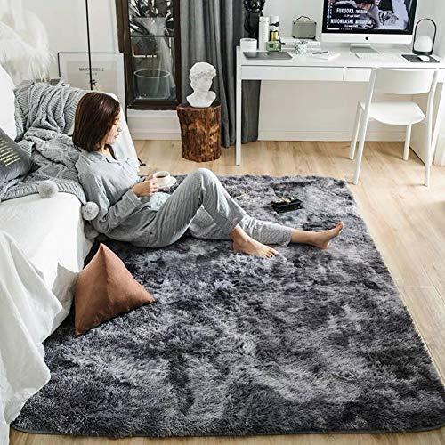 Love House Fluffy Shag Alfombra Dormitorio Sala De Estar Super Suave Pelo Largo Felpa Alfombra Anti-resbalón...