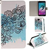 Ooboom® Samsung Galaxy A5 2016 Coque PU Cuir Flip Housse Étui Cover Case Wallet Portefeuille Supporter Stand Porte-cartes Dragonne pour Samsung Galaxy A5 2016 - Iris