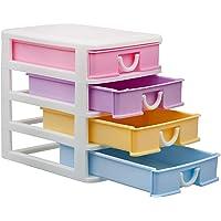 YFXOHAR Multipurpose Modular 4 Drawer Chest Cabinet Organizer for Home, Office, Kids Room