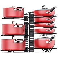 Baodan Organisateur de maniques à 8 étages pour casseroles et poêles, support réglable avec 3 méthodes de bricolage…