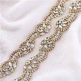 Hecho a mano guarnición bonita del rhinestone para el vestido, ajustes bling bling del applique bling cose en el hierro encendido