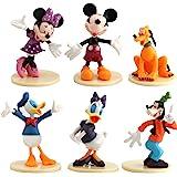 WENTS Mickey Cake Topper Mini Juego de Figuras Niños Mini Juguetes Baby Shower Fiesta de cumpleaños Pastel Decoración Suminis
