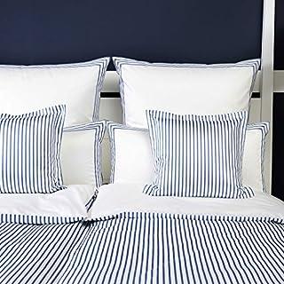elegante Mako-Satin Bettwäsche Hastings Aqua Kissenbezug einzeln 40x80 cm