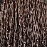 Elektrokabel 2 x oder 3 x 5 Meter geflochten aus Stoff Farbe Braun - 2 x 0,75 mm