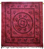 Elephant Cotton Indian Wall Hanging Tapestry Queen Purple Décor Throw 92 x 82 Inches