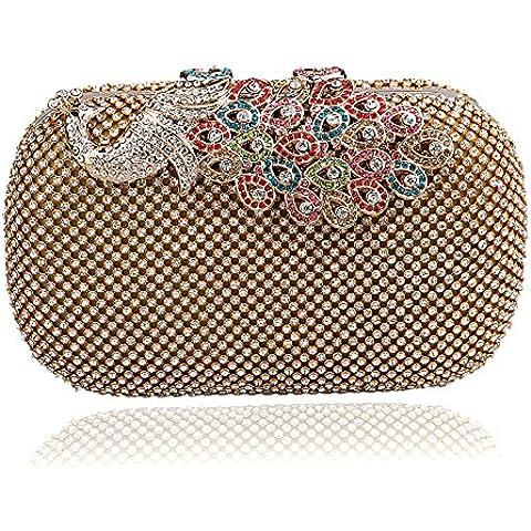 Europa y el salvaje moda mujer banquetes hermosamente bolso perla rayas bolsa de embrague nupcial noche bolsas en alto grado de la cena la noche móvil bolsa