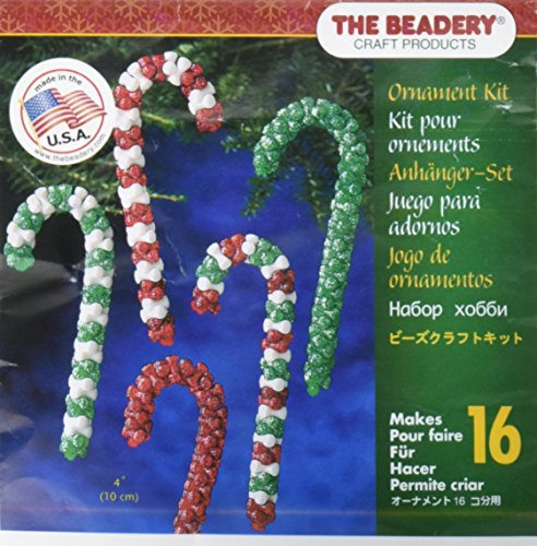 Beadery Kunststoff Holiday Perlen Ornament Kit Candy Cane Sortiment Macht 16 -