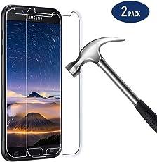 BIGMEDA Panzerglas Folie für Samaung Galaxy J5 2017,2 X Galaxy J5 2017 Panzerglasfolie 9H Anti-Fingerabdruck mit J5 2017 Hülle Schutzfolie Displayschutzfolie Display für Samsung J5 2017