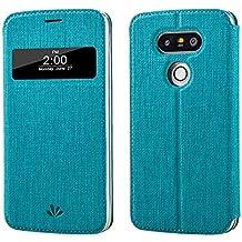 LG G5, LG G5Funda Smart Cover, meiya Premium piel sintética con ventana Auto Sleep/Wake Up Fashion funda carcasa para LG G5, compatible con LG G5