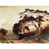 12 x 22,86 cm Impresionismo otros OdsanArt Post 'horizontal de, Guerande colinas de' by Ferdinand du Póster de Puigaudeau artstore