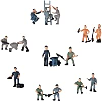 Generic 25pcs 1:87 Painted Mix Model Train Railway Worker People Figures with ladder and bucket