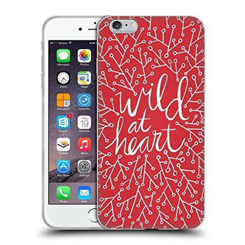 Offizielle Cat Coquillette Eat Well Travel Often Gold Zitate Typografie 3 Soft Gel Hülle für Apple iPhone 5 / 5s / SE Wild At Heart Rot