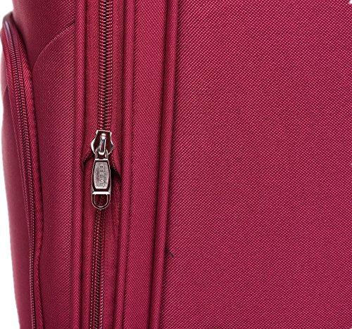 BEIBYE 8009 TSA Schloß Stoff Trolley Reisekoffer Koffer Kofferset Gepäckset (Rot, M) - 5