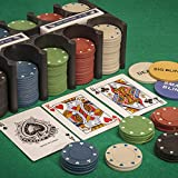 Tobar Casino Games Blackjack Poker Roulette Playing Cards & Chips Game Set