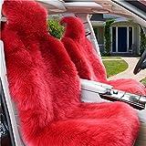 Peiji 3 Stücke Luxus Dicke Wolle Autositzbezug Set, Schaffell Fleece, Universal Kissen Automobil Dekoration