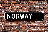 Aersing Funny Metall Schilder Norwegen Geschenk Souvenir Schild Norwegen Native Urlaub Momento Norwegen Besuchen Garage Home Yard Zaun Auffahrt Street Decor