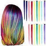 Estensione di capelli colorati, 16 Pezzi Extension Capelli Colorati Clip, Ciocche Colorate per Capelli in 8 Colori Diversi pe