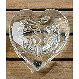 Briefbeschwerer Herz aus Glas 12cm klar