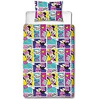 Children's Cot / Junior / Toddler Bed Duvet Cover and Pillowcase Sets - 120cm x 150cm (Minnie Mouse 'Attitude')