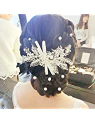khskx-the novia joyería adornos hecho a mano vestido de novia accesorios pelo tocado tocado, blanco