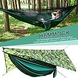 Ritapreaty Camping Hammock Portátil Ligero Anti-Mosquito Net Sombrilla Impermeable Hamaca automática Abierta para mochileros, Camping, Viajes, Playa, Jardín