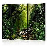 murando Raumteiler Foto Paravent Wald 225x172 cm beidseitig auf Vlies-Leinwand Bedruckt Trennwand Spanische Wand Sichtschutz Raumtrenner Design c-B-0193-z-c