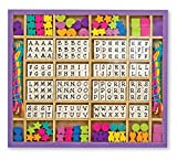 Melissa & Doug Deluxe Wooden Stringing Beads With 200+ Beads and 8 Laces for Jewellery-Making