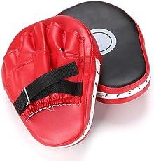 NOVECASA Handpratzen Teller-Pratzen Boxen PU 1 Paar/Punchingball Boxen Set mit Boxhandschuhen & Pumpe Unterstützung und Handschuhe Höhenverstellbar für Jugendliche und Kinder