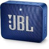 JBL GO 2 Speaker Bluetooth Portatile, Cassa Altoparlante Waterproof IPX7 con Microfono, Funzione di Noise Cancelling, fino a 5 h di Autonomia, Blu