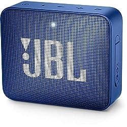 JBL GO 2 kleine Musikbox - Wasserfester, portabler Bluetooth-Lautsprecher mit Freisprechfunktion - Bis zu 5 Stunden Musikgenuss mit nur einer Akku-Ladung Blau