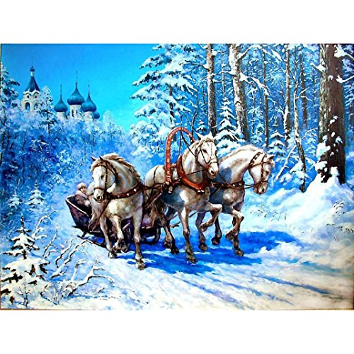 Felicove 5D Stickerei Gemälde, DIY Diamant Malerei Kreuzstich Strass Eingefügt Kreative Gemälde