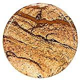 Morella Damen Coin 33 mm Edelstein Bilderjaspis Chakren Scheibe Halsketten-Anhänger und zur Stärkung