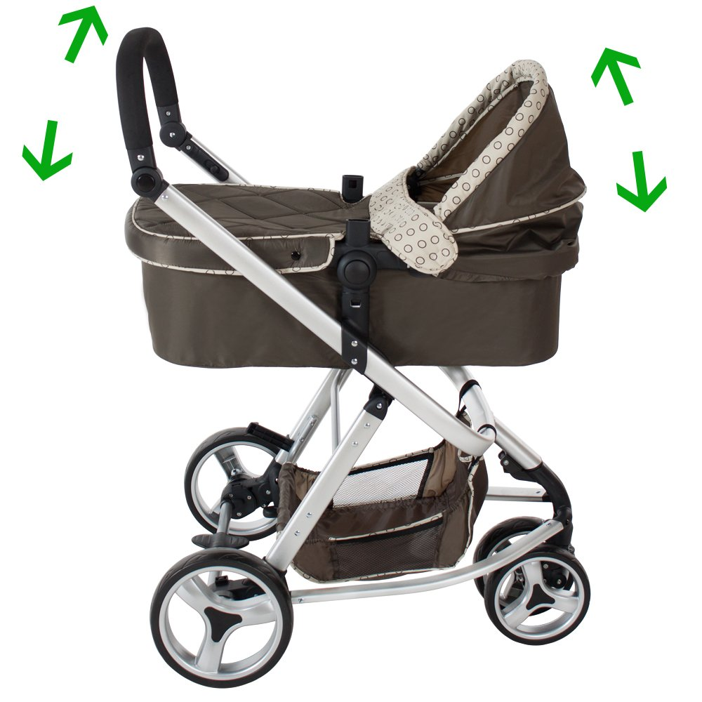 Tectake 3 In 1 Pushchair Stroller Combi Stroller Buggy Baby Jogger Travel Buggy Kid S Stroller Different Colours Brown Prams Pushchairs