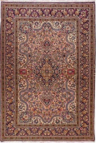 Morgenland teppiche oggetto d'antiquariato 206 x 142 cm tappeto orientale orange annodato a mano fine