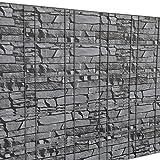 [neu.haus] Zaunfolie Sichtschutzfolie (grau steinoptik) (35m) für Zäune und alle Flächen zum einflechten