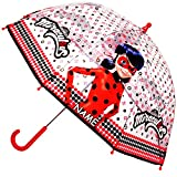 alles-meine.de GmbH Regenschirm -  Miraculous - Geschichten von Ladybug und Cat Noir  - inkl. Name - Kinderschirm Ø 70 cm / durchsichtig & durchscheinend - transparent - Kinder..