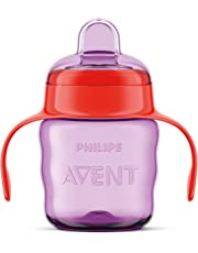 Philips Avent Classic Soft Spout Cup, 200ml (Pink/Purple)