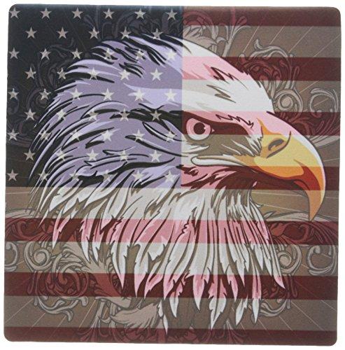 3DROSE 8x 8x 0.25ornato Patriotic Bald Eagle