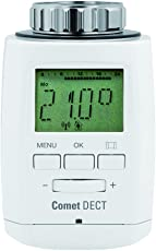 Eurotronic Comet DECT Heizkörperthermostat / Thermostat mit Internetzugang – kompatibel mit AVM FRITZ!Box / App gesteuertes Heizungsthermostat - Weiß
