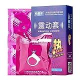 Ginli Preservativi,Sesso Sicuro e contraccezione Preservativi Nuovi Profilattici Ultra Sottili e Resistenti per sensazioni Extra - Leggermente lubrificati+Anello di Vibrazione
