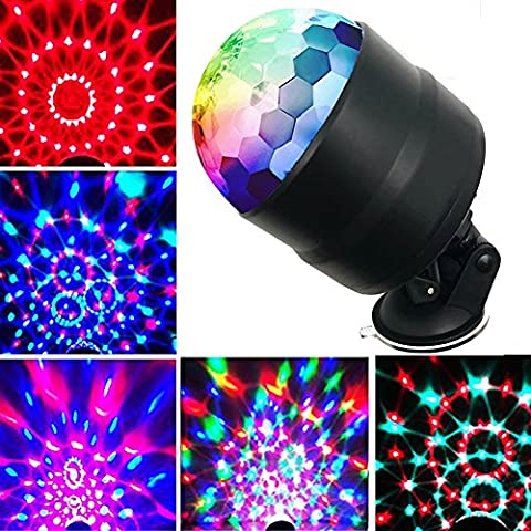 YomyRay Stage Light 4 Watts RGBP LED Flash Party Light Crystal Disco Ball Sound Activated RC Rotating Effect For Party Home Karaoke In-Car Festival DJ Show Xmas( New Upgrade