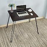 Need Schreibtische 80x60cm Esstische Kaffeetische Gartentisch Mehrzwecktisch Computertisch PC Tisch Schwarz AC4CB-8060