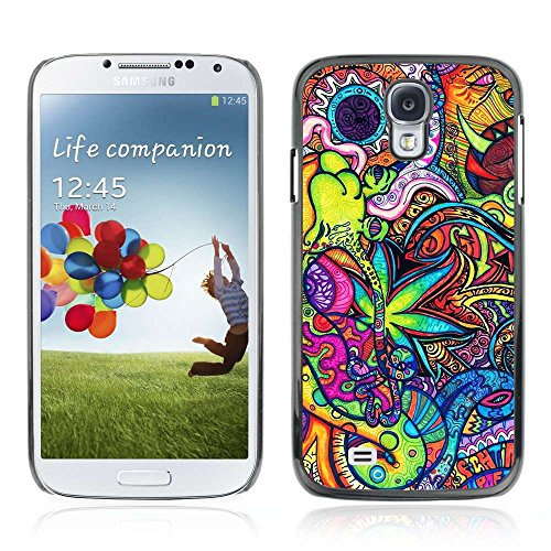 A-type Kunst & Design Hartplastik Handy-Schutzhülle Schale Hülle Case Cover für Samsung Galaxy S4 IV (I9500 / I9505 / I9505G) / SGH-i337 ( Kühle Ganja Marijuana Muster 420 )