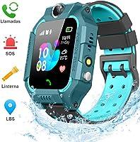 BANLVS Smartwatch Niños, 2019 Nuevo Reloj Inteligente Niños con Flashlight, IP67 LBS SOS, Cámara, Smartwatch con Ranura...