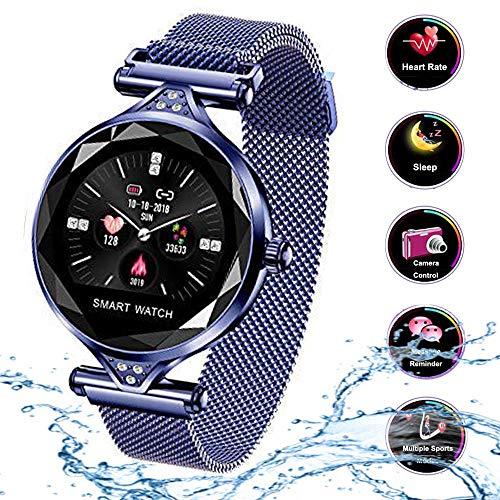 9cd420efad02 Cycle Crafts H1 - Reloj Inteligente de Pulsera para Mujer con Monitor de  Actividad física y