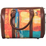 ZOUK Printed Vegan Leather Handmade Women's Handbags with double handles and detachable Sling Strap