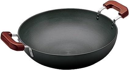 Hawkins Futura Hard Anodised Flat Bottom Deep-Fry Pan, 36cm