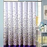 Duschvorhang 240 x 200 Anti-Schimmel,Badvorhang Wasserdichter Antibakteriell, Textil Shower Curtain Anti-Bakteriell Digitaldruck inkl. 12 Duschvorhangringe für Badezimmer mit verstärktem Saum