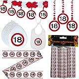 41 tlg. Set Partyset zum Achtzehnten 18. Geburtstag Dekopaket Partypaket Dekoration