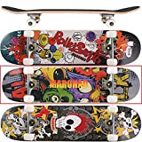 [maronad. GCP] ® Skateboard ABEC 7Roulements Roues 80A PU érable 9Couches 31x 8inch (79x 20cm), Modell Skateboard: Cartoon